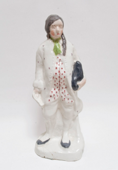 "Self portrait as Ben Franklin, 2011, glazed porcelain, 13.5"" x 6"" x 4"""