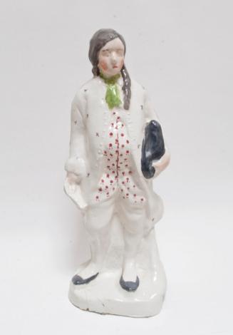 "Self portrait as Ben Franklin, 2011, glazed porcelain, 13.5"" x 6"" x 4"""